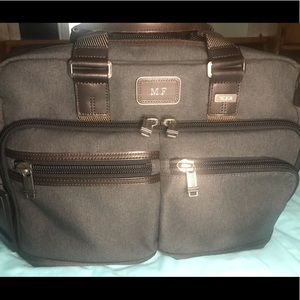 TUMI Gray Alpha Bravo Anderson Slim  Briefcase